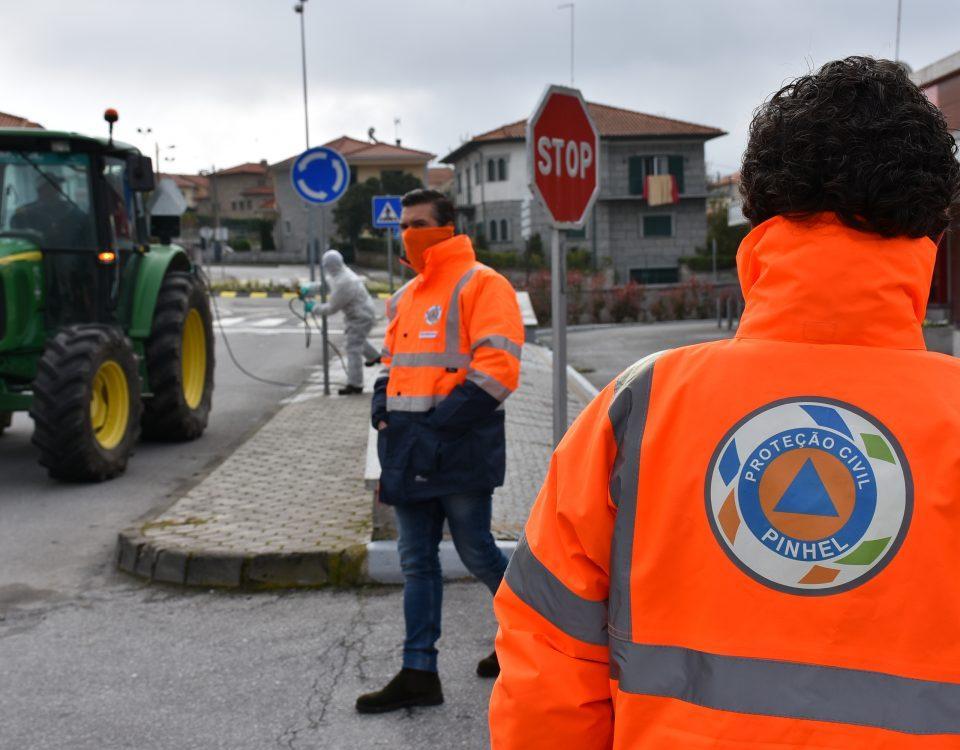 Desinfeção das ruas na cidade e no concelho